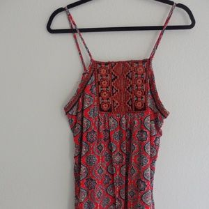 Lucky brand Tank top Embroidered Detail Size XL